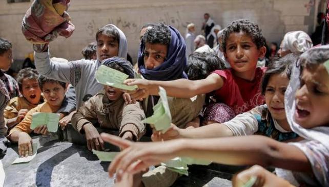 यमन में ज़ंग का असर: करीब 9 लाख लोगों तक नहीं पहुंच रही दो वक्त की रोटी!