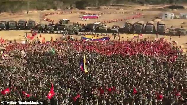 राष्ट्रपति मादुरो ने वेनेजुएला के इतिहास में सबसे बड़ी सैन्य अभ्यास शुरू किया